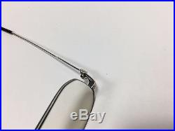 100% Authentic Cartier Sunglass Vintage Collection Platinum With Gold Eyeglasses