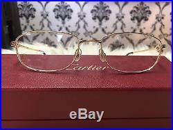 100% Authentic CARTIER gold eyeglass frame