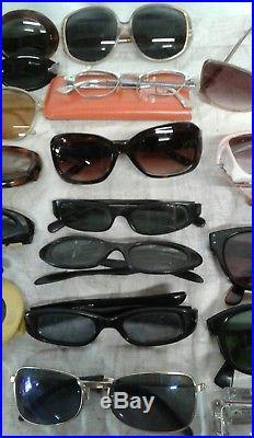 1940s 50s -60's Womens Sunglasses Lot Cat Eyes, Rd, Sq, France, MARYLIN MONROE