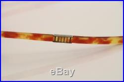 1950/60s Vintage Folding Pierre Cardin/Meyro Orange Tortoise Reading Eyeglasses