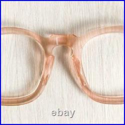 1950's frame france Parisien Vintage Eye Glass Frame Rose Pink F/S from JAPAN