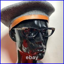 1950s NOS Pin Up Cateye Frames, Black With Rhinestones And Adornements, Elegant