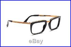 1960s vintage combo eyeglasses by Selecta for men. Manager 12kt GF Black 52-22mm