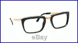 1960s vintage comby eyeglasses by Selecta, Mod. Manager 12kt goldfilled 52-22mm