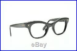 1960s vintage eyeglasses SELECTA Mod EXCELSIOR charcoal extrude, 46-24mm EG 1-3
