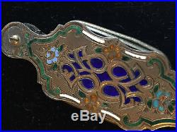 19th C. French Sterling silver Lorgnette Opera Glass Cloisonné Enamel- $250 sp