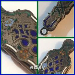 19th C. French Sterling silver Lorgnette Opera Glass Cloisonné Enamel NEW PRIC