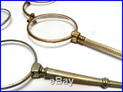4 Antique Lorgnette, Reading or Opera Glasses French Decorative Object