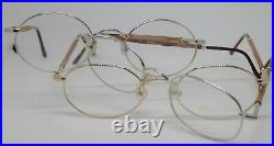 5 Pair of NEW Wood France eyeglasses Vintage gold, and 3 silver & Bronze RARE