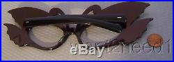 70s/80s vtg nos FRENCH EYEGLASS FRAMES Gold Jeweled Swans HUGE OUTRAGEOUS UNUSED