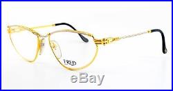 80s FRED Eye Frame ALIZE Gold Platinum Marine Sailor Deluxe 55-16 130 France NOS