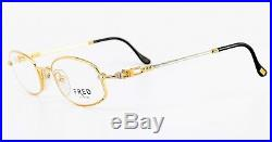80s FRED Eye Frame SEYCHELLES Gold Platine Sailor Deluxe France + GUCCI Case NOS