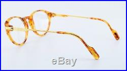 90s Vintage CARTIER Combinees Eyeglasses AURORE Gold Marbled Blond 50-18 130 NOS