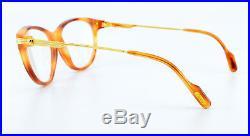 90s Vintage CARTIER Combinees Eyeglasses mod. Eclat Marbled Honey 53-15 135 NOS