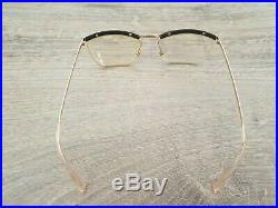 AMOR FRANCE Vintage Gold Filled Semi Rimless Eyeglasses Frames