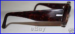 A G vintage large tortoise look optical glass frames Gilio made in France