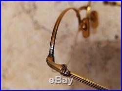A nice vintage Cartier Vesta Louis half rim oval eyeglasses 51mm