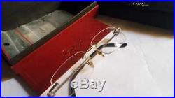 A nice vintage Cartier rimless double c decor eyeglasses