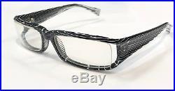 Alain Mikli A0101-17 Eyeglasses Black White Crystal Clear Frame Vintage