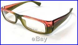 Alain Mikli A0418-02 Eyeglasses Crystal Coral Green Frame Vintage 52mm
