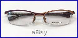 Alain Mikli A0694 15 Eyeglasses Matte Violet Orange Frame Vintage 53mm
