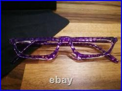 Alain Mikli Cat Eye Eyeglasses Model 913 Color Purple \ Crystal NOS Super Rare