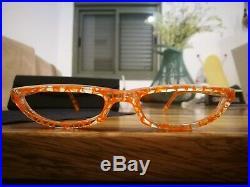 Alain Mikli Cat Eye Eyeglasses Model 920 Color Orange \ Crystal NOS Super Rare