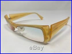Alain Mikli Eyeglass Frames France A0491-18 Light Brown Half Rim 52-17-135 PG25