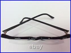 Alain Mikli Paris 034 COL 898 Black Round Eyeglass Glasses Frames Vintage