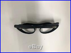 Amazing and rare Vintage Cat Eye 60s Frames in Black with Stones