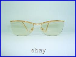 Amor eyeglasses 18kt gold filled, rimless, oval, square, frames, women's vintage