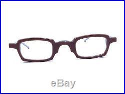 Anne Et Valentin NEW Vintage COX Acetate Red Square Eyeglasses Frames 45-16 140