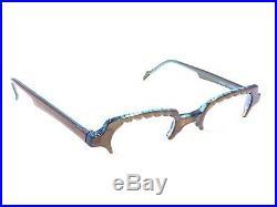 Anne Et Valentin NEW Vintage MIMI Orange Half Rim Eyeglasses Frames 45-13 135