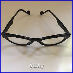 Anne Et Valentine Eyeglass Frames Plume I Made In France Vintage Black Cat Eyes