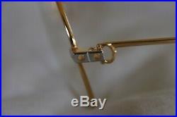 Auth 18k Must de Cartier SANTOS Vendome Eyeglass Frames NIB