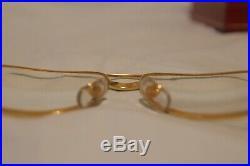Auth 18k Must de Cartier SANTOS Vendome Eyeglass Frames Never Used MINT
