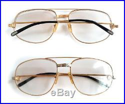Auth Cartier 18k Santos Vendome Eyeglasses Sunglasses
