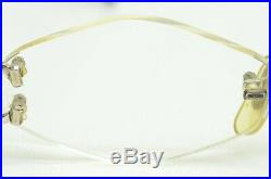 Auth Cartier Vintage Eyeglasses Rx Rimless C Decor Scala 135 20 Hexagon Platine