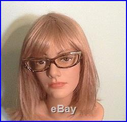 Authentic Alain Mikli Cat Eye Gold and Brown Frame Eyeglasses Hand Made France