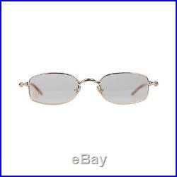 Authentic CARTIER Paris SADIR Gold Rimmed Eyeglasses T8100586 49-21 135mm NOS