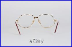 Authentic CARTIER VINTAGE 1988 RARE Eyeglasses PANTHERE GM Gold 59/14 140