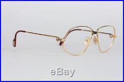 Authentic CARTIER VINTAGE 1988 RARE Eyeglasses PANTHERE G. M. Gold 59/14 140