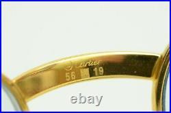 Authentic Cartier Aube Louis Eyeglasses 56 19 140 GP Tortoise Shell VTG Frames
