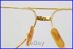 Authentic Cartier Eyeglass Frame Gold Bordeaux With Prescription Lenses 128512