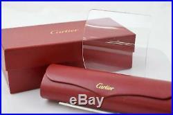 Authentic Cartier Eyeglass Frame Gold X Bordeaux 1102507