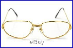 Authentic Cartier Eyeglass Frame Gold X Bordeaux 1106484