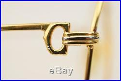 Authentic Cartier Eyeglass Frame Gold X Bordeaux 128118