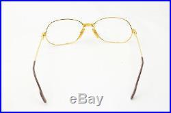 Authentic Cartier Eyeglass Frame Gold X Bordeaux 128148
