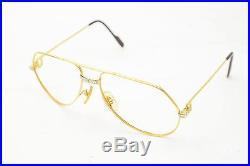 Authentic Cartier Eyeglass Frame Gold X Bordeaux 128151