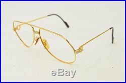 Authentic Cartier Eyeglass Frame Gold X Bordeaux 128172